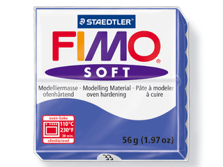 Pasta para modelar Fimo Soft bloque de 56 g color azul brillante