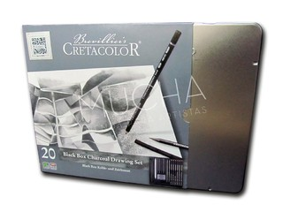 Set de Dibujo Grafito/Carbon Cretacolor Black Box