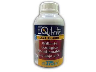 Laca Eq Arte brillante al agua color blanco
