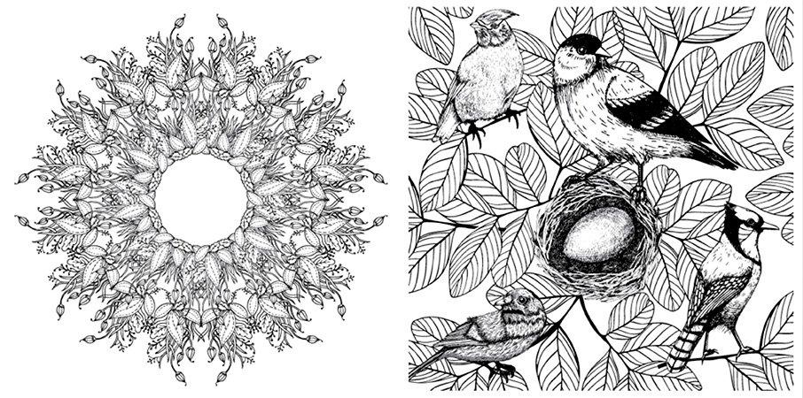libro para colorear el jardin encantado de jessica bridgford