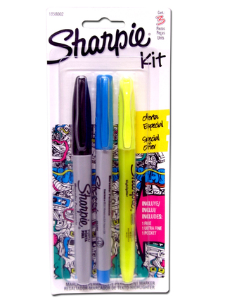 Marcadores Sharpie Kit x3