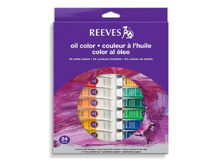 Oleos Reeves pomos x 24 colores 10 ml.