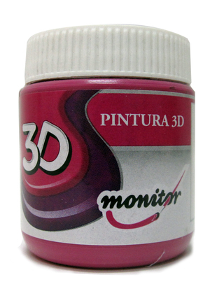 Pintura 3D Monitor pote 65 cc. color Rojo Monitor