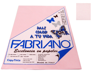 Papel Fabriano Copy Tinta 80 grs. A4 Blister x 20 u. color Rosa
