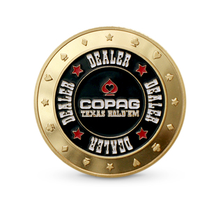 Dealer Button Dourado - COPAG