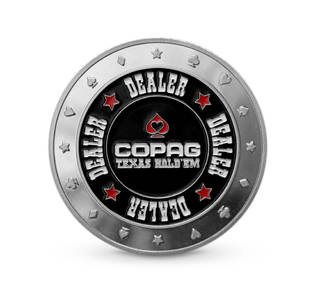 Dealer Button Prata - COPAG