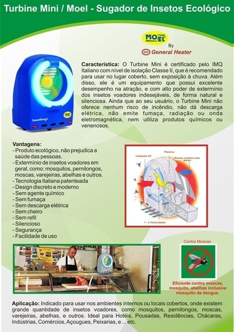 Turbina Mini / Moel - Sugador de Insetos - Ecológico - GH - Amantes de Churrasco
