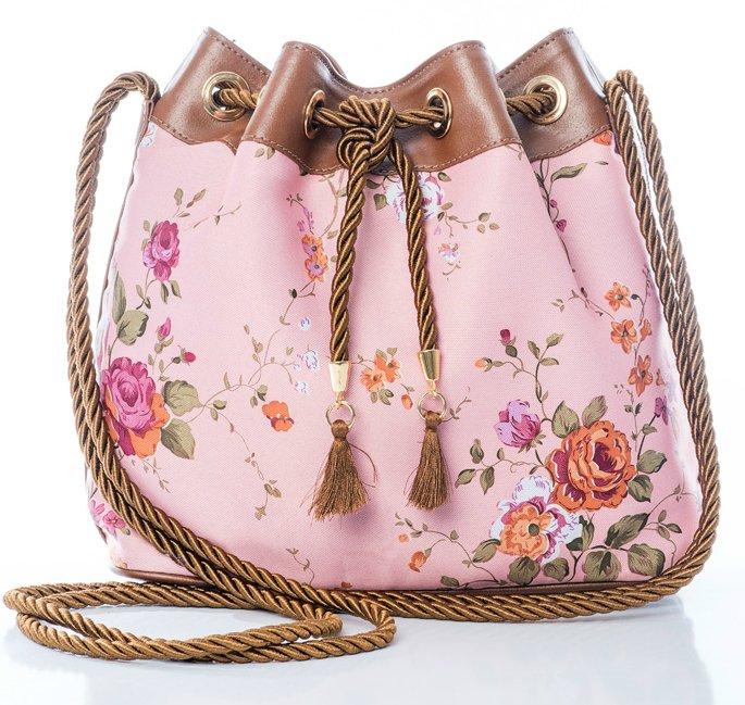 9dad88db6 Bolsa Saco Floral Rosa - Comprar em La Loba