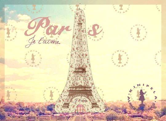 Almohadon Torre Eiffel Je Taime Paris