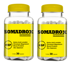 Somadrox 30 caps 500 mg - Muscle Mass (2 Potes)