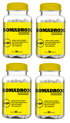 Somadrox 30 caps 500 mg - Compre 3 Leve 4 Potes