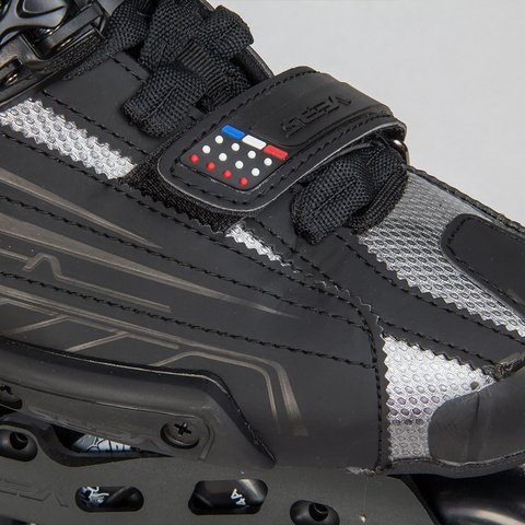 Detalhes do ajuste de velcro do patins SEBA High Light 10th