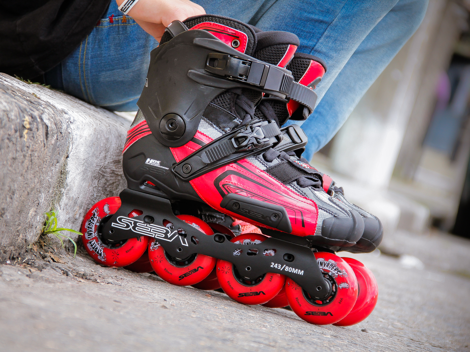 Patins Seba High Light Red - patins para Slalom, Freestyle e Freeride