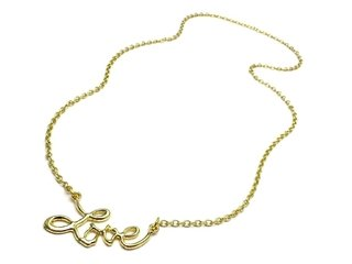 Collar Dije Love Dorado