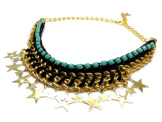 Collar Super Star, soga negra