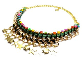 Collar Super Star, soga verde
