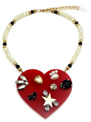 Collar Red Heart