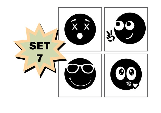 Set de Sellos Emoticon Grande - MissPiccolo