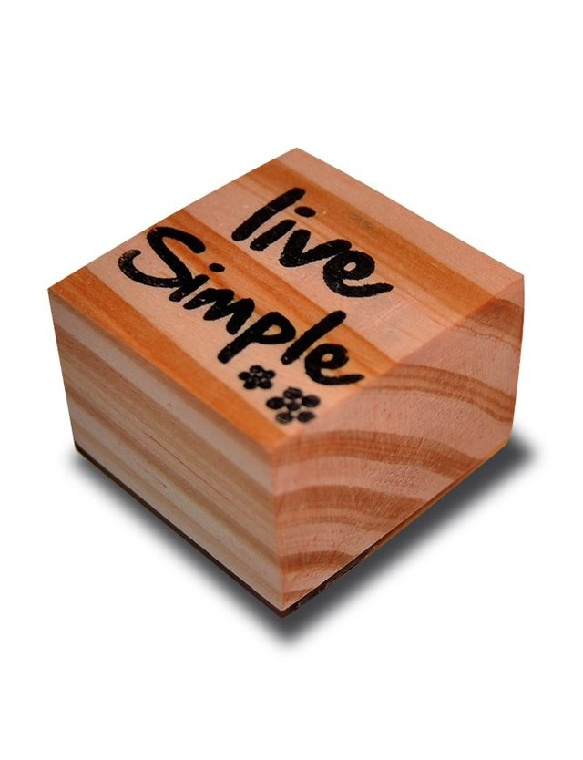 Live Simple Stamp