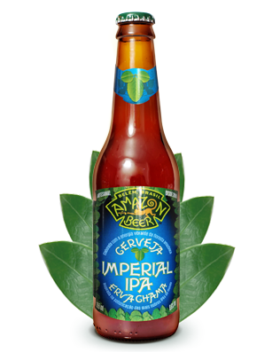 Cerveja Amazon Imperial IPA Erva Chama 355ml
