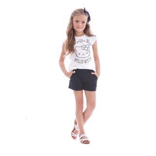 17d27c25b ... Blusa Hello Kitty Infantil Menina - Ref 87766 - Branco