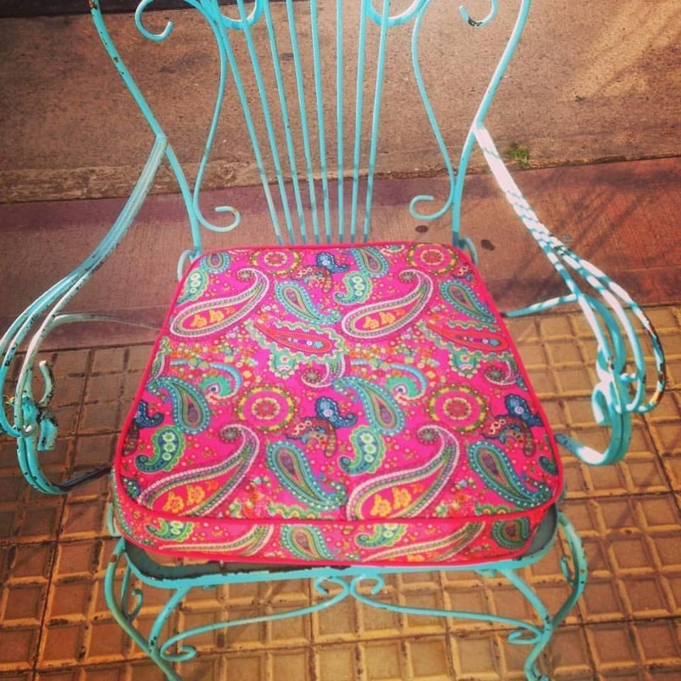 Almohadones para silla antigua de exterior - Almohadones para sillas ...