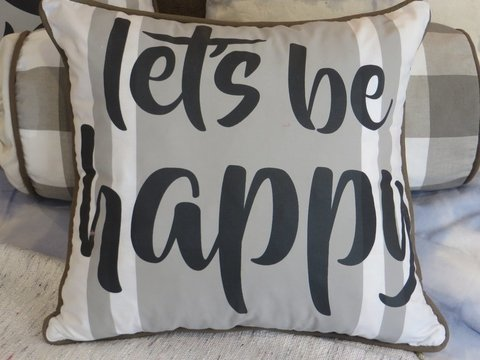 Almohadon Let´s be happy ♥