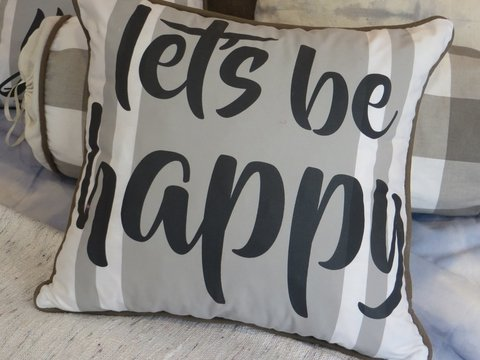 Almohadon Let´s be happy ♥ - comprar online