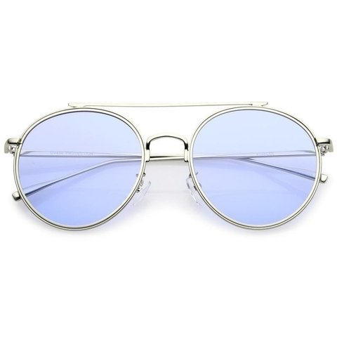 OCULOS DE SOL COM LENTE COLORIDA EM AZUL COTTON CANDY