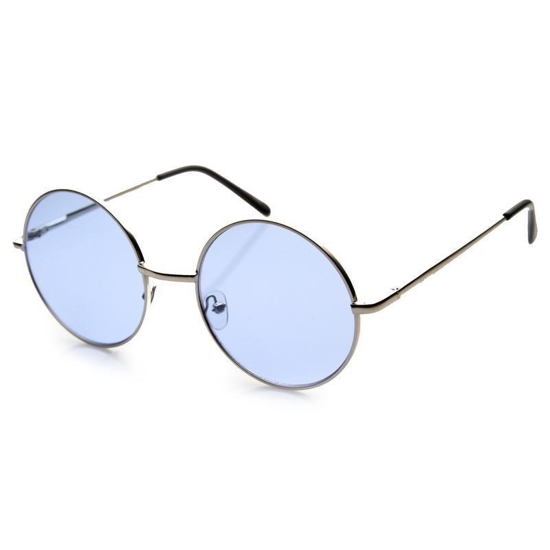 fcdfded9ecc8f Oculos de sol retro redondo em tamanho medio e lente azul - sunnie john