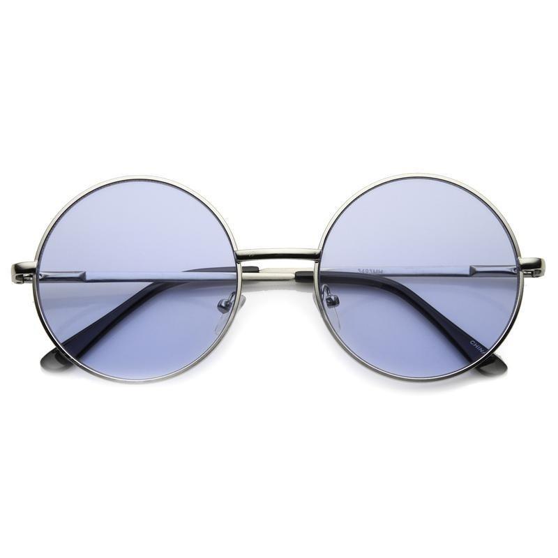2bcc942895f6b Oculos de sol retro redondo em tamanho medio e lente azul - sunnie john