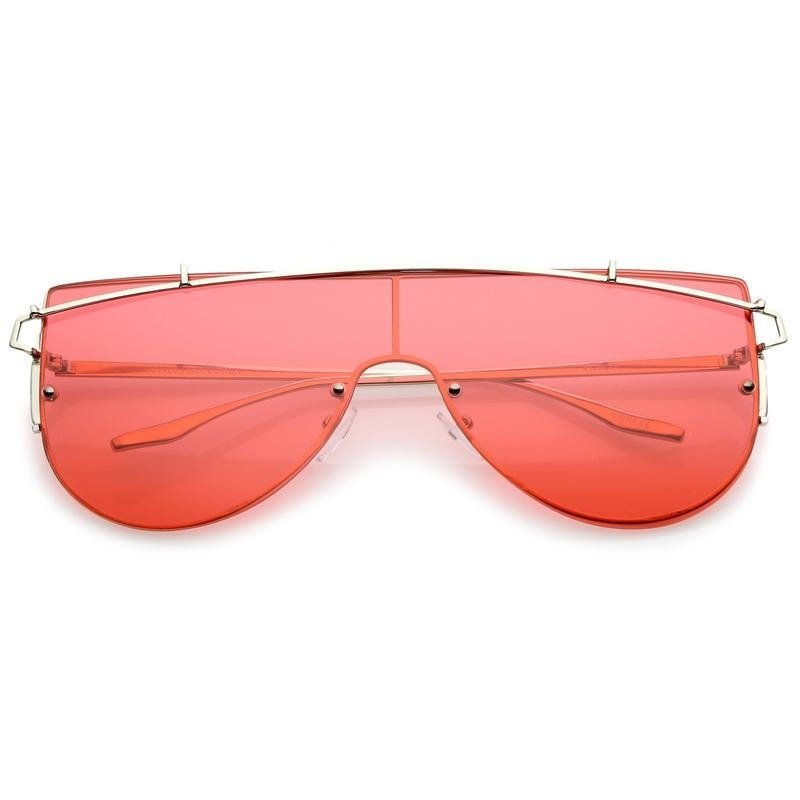 ec71e3ba813b0 Oculos de sol aviador em lente plana vermelha - super sun