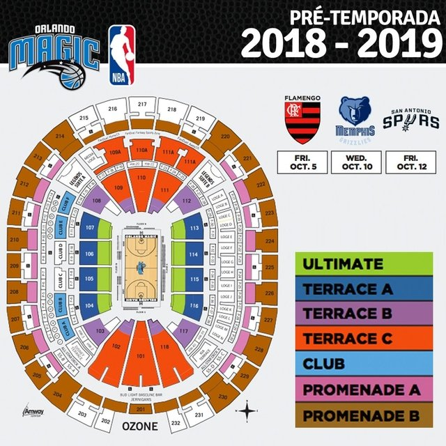 Orlando Magic x San Antonio Spurs 12/10/2018 19h - PRÉ-TEMPORADA - comprar online