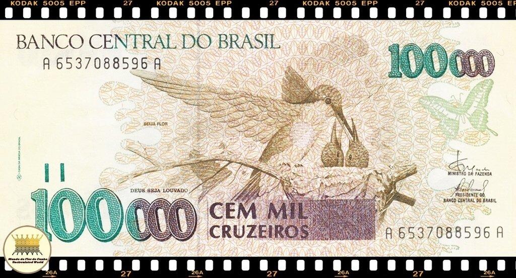P-228 ND 1990 UNC C-214 BRAZIL  CRUZEIROS 100.