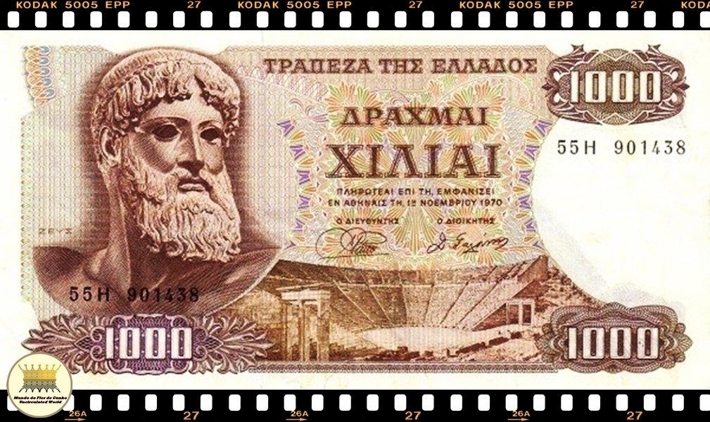 P128a banknote UNC Greece 5000000 1944