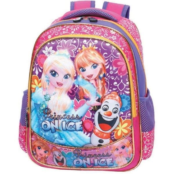 MOCHILA INF FEM REF M 2510 ESTAMPADA PRINCESS ON ICE - VOZZ COD 13698