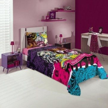 JG CAMA INF SOLTEIRO 2 PC MONSTER HIGH LEPPER cod 07941