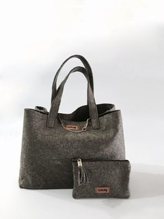 shopping bag CHELSEA felt - AZZULARQ