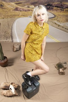YELLOW HEART vestido