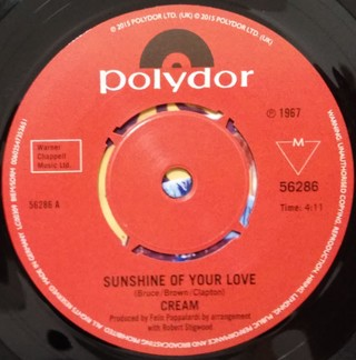 Cream - Sunshine of Your Love / SWLABR [Compacto] - 180 Selo Fonográfico