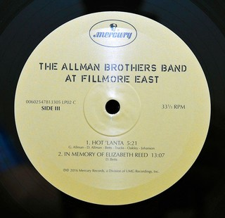 Allman Brothers Band - The Allman Brothers Band At Fillmore East [LP Duplo] - comprar online