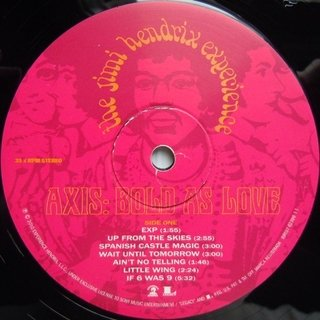Jimi Hendrix Experienced - Axis: Bold As Love [LP] - 180 Selo Fonográfico