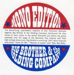 Big Brother & the Holding Company - Big Brother & the Holding Company (1967) [LP]