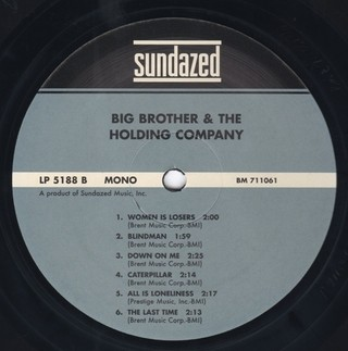 Big Brother & the Holding Company - Big Brother & the Holding Company (1967) [LP] - comprar online