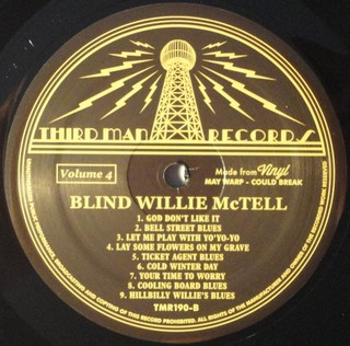 Blind Willie McTell - Complete Recorded Works In Chronological Order Vol. 4 [LP] - 180 Selo Fonográfico