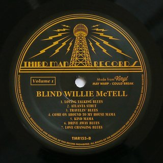Blind Willie McTell - Complete Recorded Works In Chronological Order Vol. 1 [LP] - 180 Selo Fonográfico