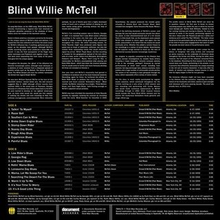 Blind Willie McTell - Complete Recorded Works In Chronological Order Vol. 2 [LP] - comprar online