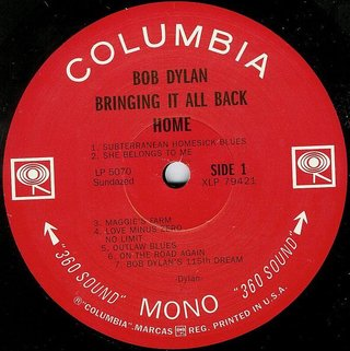 Bob Dylan - Bringing It All Back Home [LP] na internet