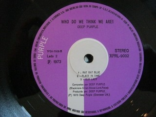 Deep Purple - Who Do We Think We Are [LP] - 180 Selo Fonográfico