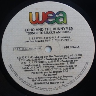 Echo & The Bunnymen - Songs to Learn & Sing [LP] - 180 Selo Fonográfico